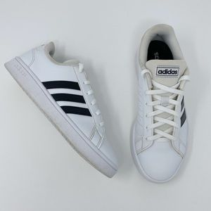 Adidas Grand Court Lace Up Shoes White Size 7